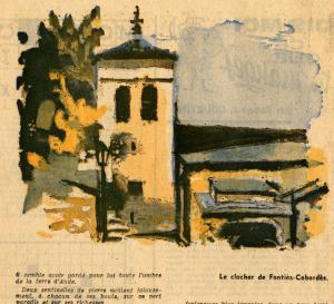 Le clocher de l'église de Fontiers.
