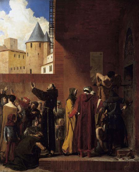 La délivrance des emmurés de Carcassonne. Jean-Paul Laurens, 1879.
