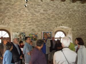Visite du pavillon d'Adélaïde à Burlats avec l'écrivain Bernard Mahoux. Journée découverte septembre 2014.
