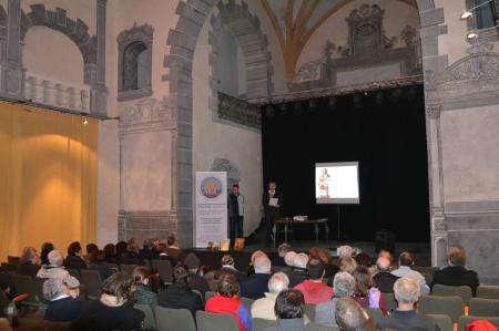 Conférence de Gauhier Langlois et Bernard Mahoux sur le siège de Carcassonne en 1240. Carcassonne, janvier 2015.
