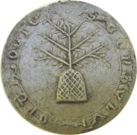 Sceau de la communauté de Montolieu, 1303.
