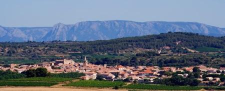 Le village de Puisserguier.