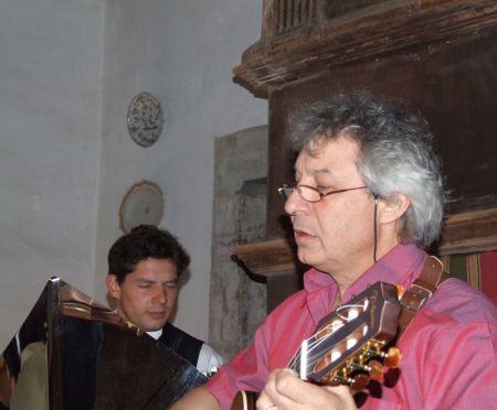Gérard Zuchetto et Thierry Gomar à Bouisse en 2011.