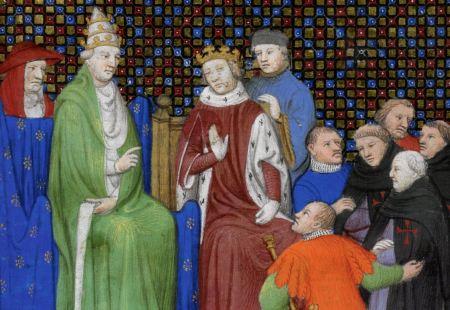 Le templiers devant le pape Clément V et le roi Philippe le Bel